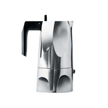 Alessi - Ossidiana Espressokaffeekanne groß - aluminium/Griff und Knopf aus thermoplastischem Harz/max. Füllmenge 30 cl