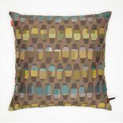 Vitra - Maharam Kissen 40x40cm - Vases Goldenrod/gold/blau/braun
