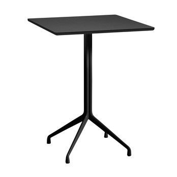 HAY - About a Table AAT15 Stehtisch 80x80cm - schwarz/Tischplatte Linoleum/Kante schwarz/H 105cm