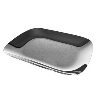 Alessi - Dressed Tablett rechteckig - edelstahl/glänzend poliert/Reliefdekor/LxB 45x34 cm