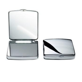 Decor Walther - TS 1 Taschenkosmetikspiegel - chrom/7-fache/1-fache Vergrößerung/beleuchtet/10x9.5cm