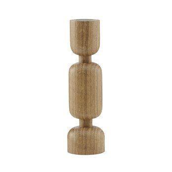Normann Copenhagen - Lumberjacks Kerzenhalter M - eiche/H 16cm, Ø 4,2cm