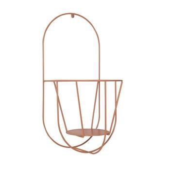 OK Design - Wall Cibele Blumentopfhalter - pfirsich/pulverbeschichtet/für Töpfe mit Ø 18-20cm