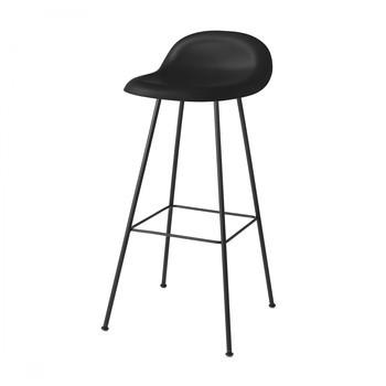 Gubi - Gubi 3D Bar Stool Barhocker - mitternachtsschwarz/Sitzfläche HiRek Kunststoff/BxHxT 42x88x43cm/Gestell schwarz