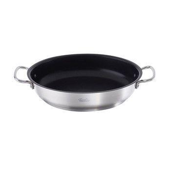 Fissler - Fissler Servierpfanne Antihaftversiegelt Ø28cm - edelstahl/schwarz/backofengeeignet bis 220°C/für alle Herdarten geeignet