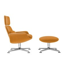 Knoll International - KN™ Lounge Chair With Ottoman