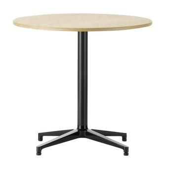 Vitra - Bistro Table Tisch rund - eiche hell/Gestell basic dark schwarz/nur für Innenbereich
