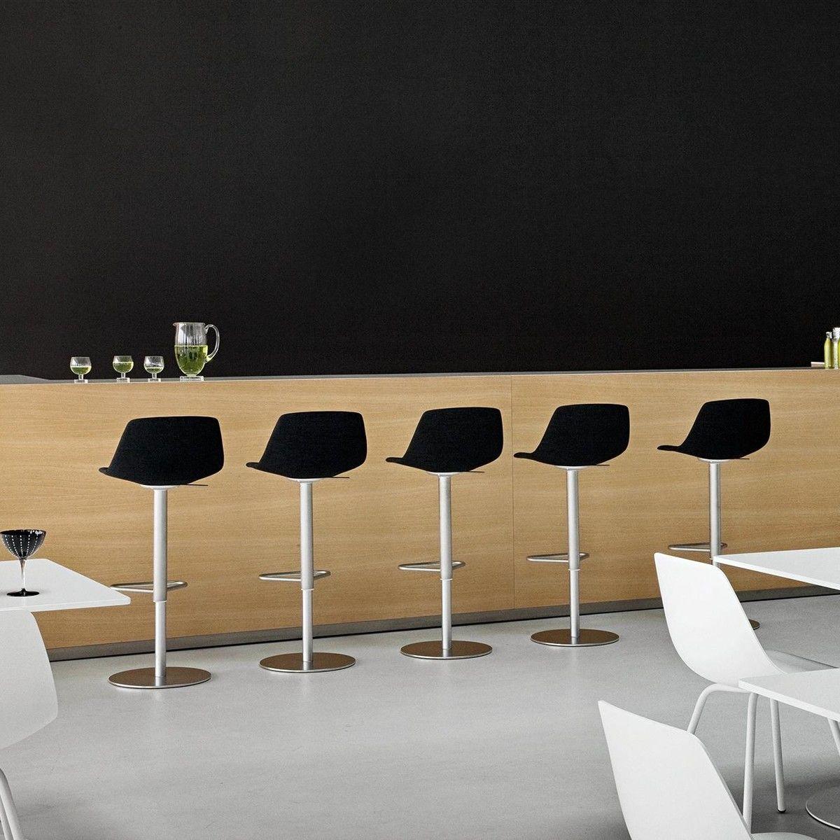 miunn tabouret de bar acier inox rond la palma tabourets de bar meubles d 39 assise. Black Bedroom Furniture Sets. Home Design Ideas