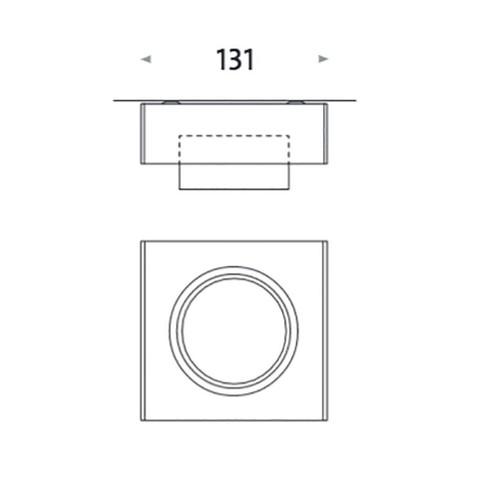 Mawa Design - Wittenberg wi-ab-125-1e Einzelstrahler - Strichzeichnung
