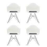Vitra - Eames Plastic Armchair DAR 4er Set