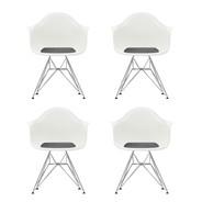 Vitra - Set promotionnel de 4 chaises avec accoudoirs Eames DAR