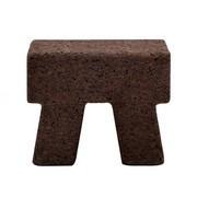 Gervasoni - Table d'appoint / tabouret Cork 42 carré