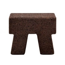 Gervasoni - Cork Beistelltisch/ Hocker eckig