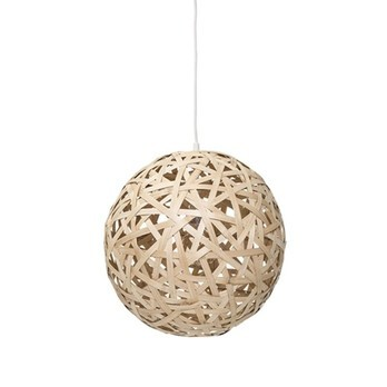 Bloomingville - Bamboo Ball Pendelleuchte  - natur/Ø 44cm