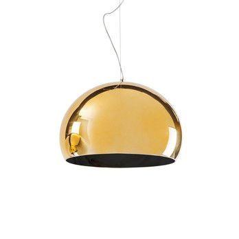 Kartell - FL/Y Metallic Pendelleuchte - gold/anthrazit
