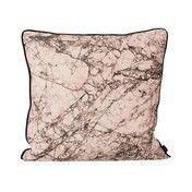 ferm LIVING - Marble Seidenkissen - rosa/50x50cm/Kaltwäsche/von Hand gedruckt