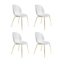 Gubi - Set de 4 chaise structure laiton Beetle Dining Chair
