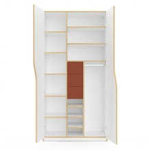 Müller Small Living - Plane Wardrobe 100x60x200cm Configuration 6