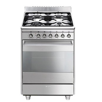 Smeg - SCD61GVX9 Cooker gas - stainless steel/4 flames/W: 60cm