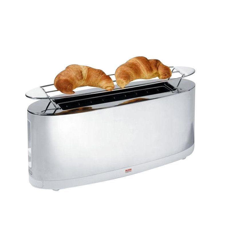 In Box Alessi Italy Stefano Giovannoni Stainless Steel Electric Toaster SG68