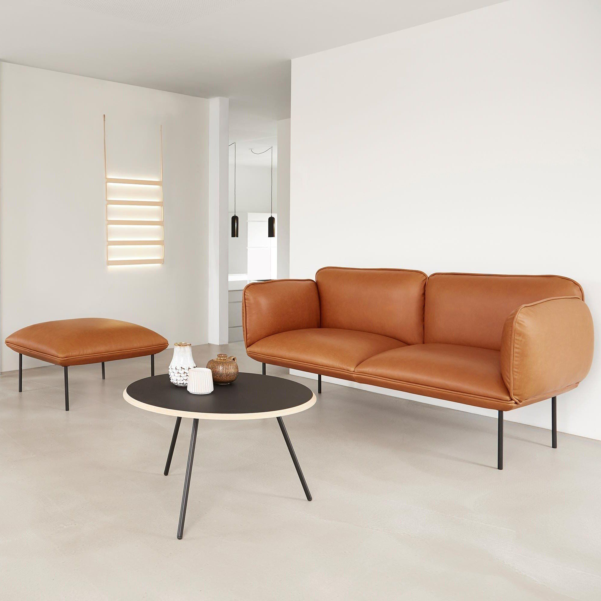 Types Of Reds Nakki 2 Seater Leather Sofa Woud Ambientedirect Com