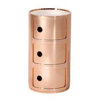 Kartell - Componibili 3 Metallic Container - kupfer/glänzend