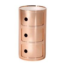 Kartell - Componibili 3 Metallic Container