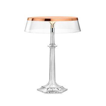 Flos - Bon Jour Versailles Small LED Tischleuchte  - transparent/kupfer/Krone transparent/H:27.2cm x Ø13.1cm/2700K/250lm