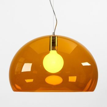 Kartell - FL/Y Icon Pendelleuchte - orange/transparent
