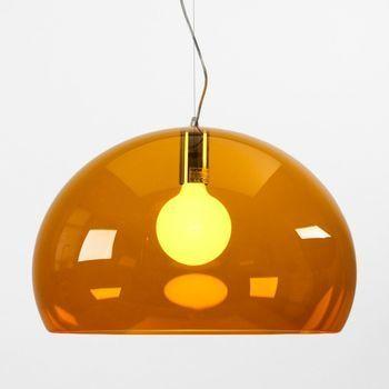 Kartell - FL/Y Icon Pendelleuchte - orange/transparent/Ø52cm