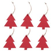 Hey-Sign - Christmas Ornament Christmas Tree 6 pieces