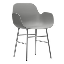 Normann Copenhagen - Form Fauteuil - piètement en chrome