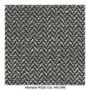 MDF Italia - Flow Slim Armlehnstuhl gepolstert New Edition 2 - schwarz/weiß/Schale weiß/Gestell Eiche/Stoff Monaco R320 Col. 443.060/B56 x T56 x H76.4 cm