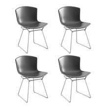 Knoll International - Bertoia Plastic Side Chair Stuhl Chrom