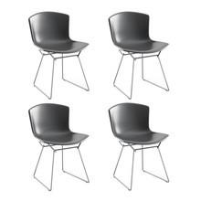 Knoll International - Bertoia Molded Shell Side Chair Gestell Chrom 4er Set