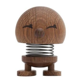 Hoptimist - Hoptimist Baby Woody Bimble Push Puppet - smoked oak/H6.5cm/Ø5.0cm/with spring mechanism