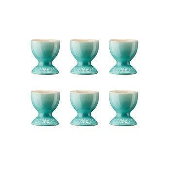 Le Creuset - Le Creuset Eierbecher 6er Set - cool mint/glänzend