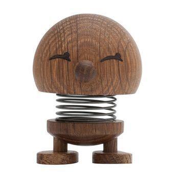 Hoptimist - Hoptimist Baby Woody Bimble Wackelfigur - geräucherte eiche/H6,5cm/Ø5,0cm/mit Federmechanismus