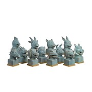 pols potten - Symbolic Blue Head 12er Set