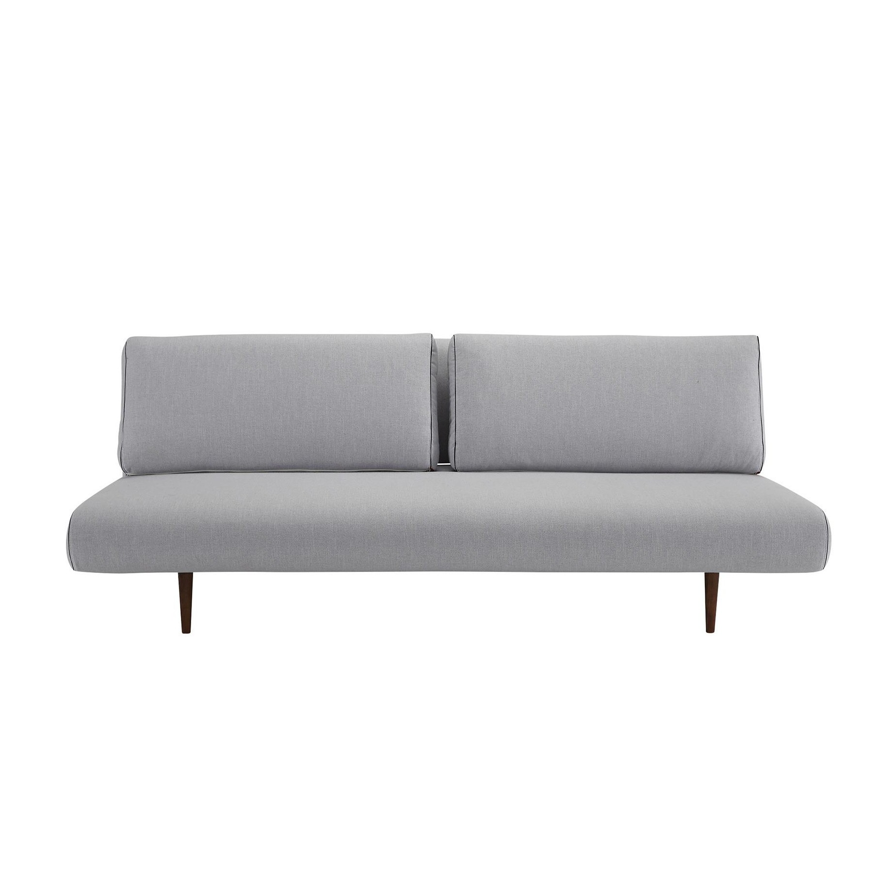 Innovation Unfurl Lounger Sofa Bed Light Grey Fabric 517 Elegance With Cushions