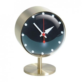 Vitra - Night Clock Nelson Tischuhr - messing/acrylglas/Ø10.5cm