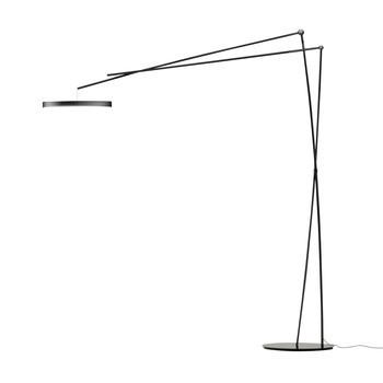 Prandina - Effimera F5 LED Stehleuchte - schwarz/glänzend/LxBxH 180x47x200cm/3000K/ 2400lm
