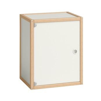 Flötotto - Flötotto Profilsystem Container mit Tür - buche/Flächen weiß/melaminharzbeschichtet/1 Einlegeboden