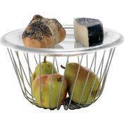 Alessi - A Tempo Fruit Basket - stainless steel / HxØ 14x26cm/without plate
