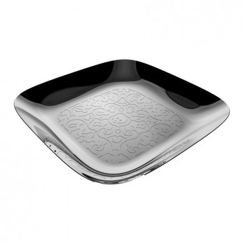 Alessi - Dressed Tablett viereckig - edelstahl/glänzend poliert