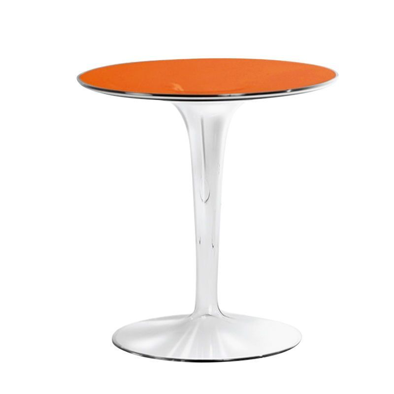 Kartell   Tip Top Side Table   Orange/transparent