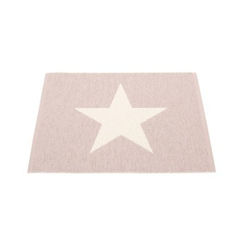 pappelina - Viggo Small One Teppich 70x90cm - hellrosa/vanille/wendbar