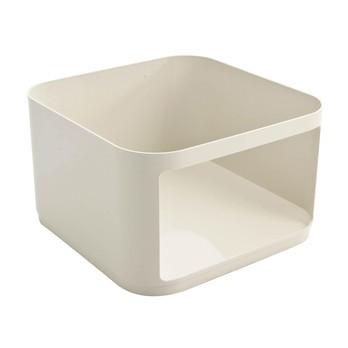 Kartell - Componibili Modul eckig - weiß/ABS Kunststoff/Höhe 23cm