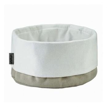 Stelton - Stelton Brottasche - sand / weiß/Baumwolle/Ø 23cm