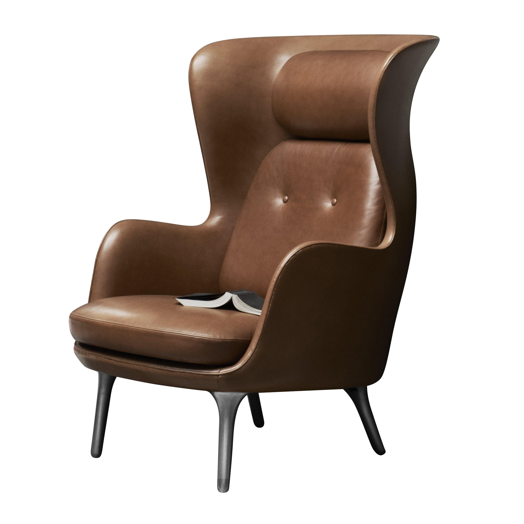 ... Wingback Chair Leather · Fritz Hansen - Ro™ Ohrensessel Leder - walnussbraun/Gestell ...  sc 1 st  AmbienteDirect & Fritz Hansen Ro™ Wingback Chair Leather   AmbienteDirect